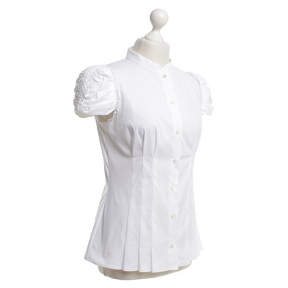 Prada Short sleeve blouse in white
