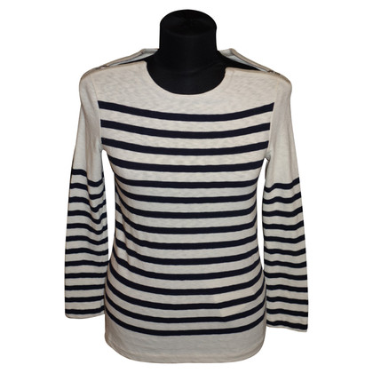 Céline Striped sweater with zip closure