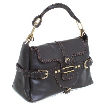 Jimmy Choo Handtasche aus braunem Glattleder