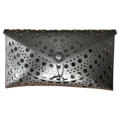 Alaïa clutch in black