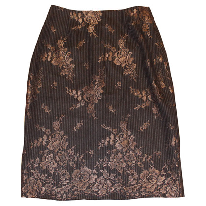 Talbot Runhof skirt bronze tones
