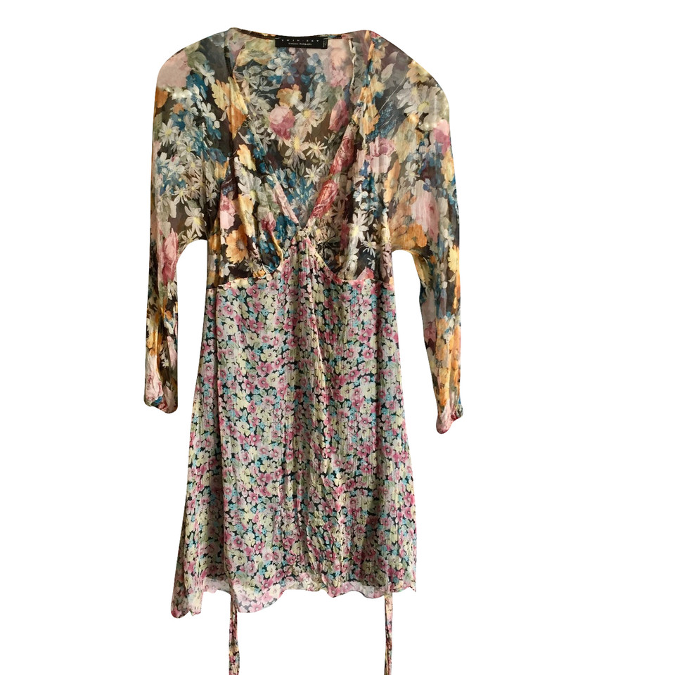 Twin-Set Simona Barbieri Robe en soie avec un motif floral