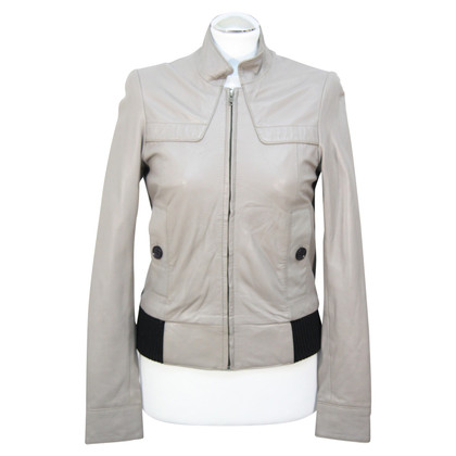 Reiss Leather jacket in grey