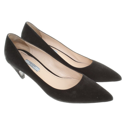 Prada Wildleder-Pumps in Schwarz