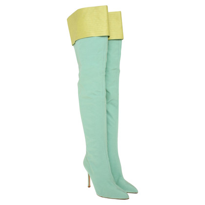 Gianni Versace Overknees in light green