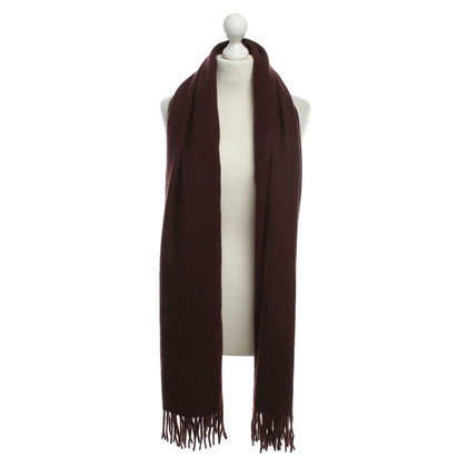 Acne Wool scarf in Bordeaux