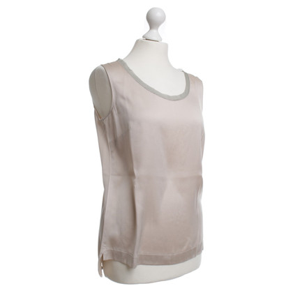 Fabiana Filippi Zijden top in beige