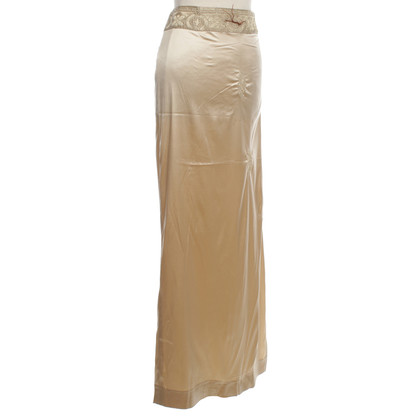 Ermanno Scervino Golden skirt with embroidery