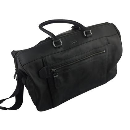 Hugo Boss Hugo Boss Black Leather Travel Bag