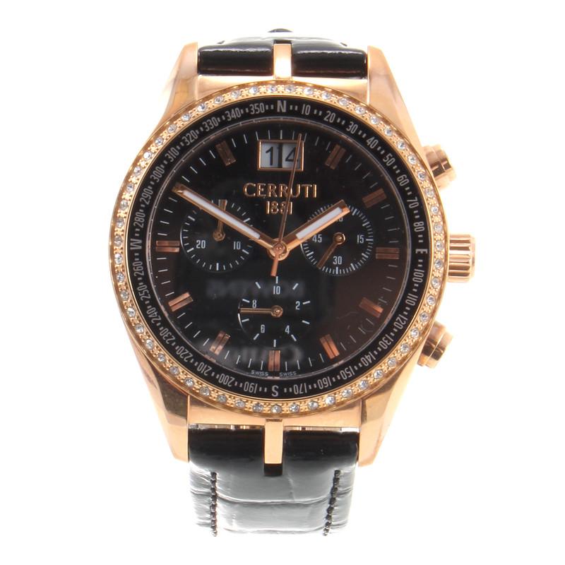 Cerruti 1881 Horloge met Rhinestone ornament