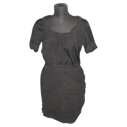 Diane von Furstenberg Kleid in schwarz mit Drapierungen