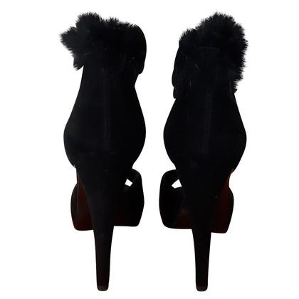 Hermès Sandali con rifiniture in pelliccia
