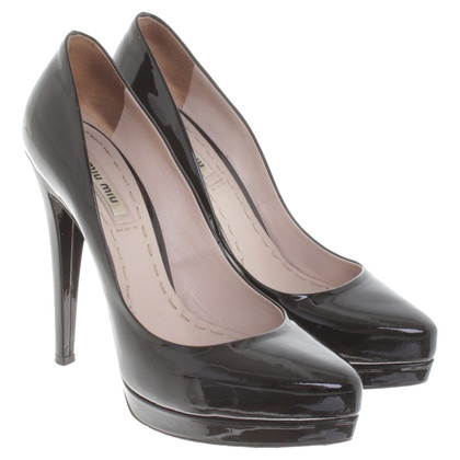 Miu Miu Patent leather pumps in black