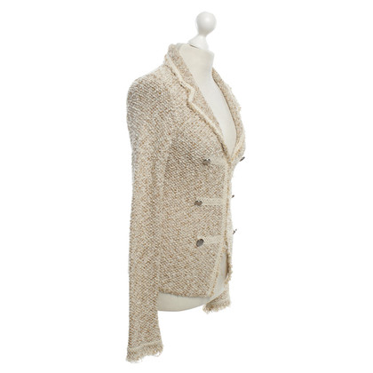 Bruno Manetti Blazer with gold-colored effect yarn