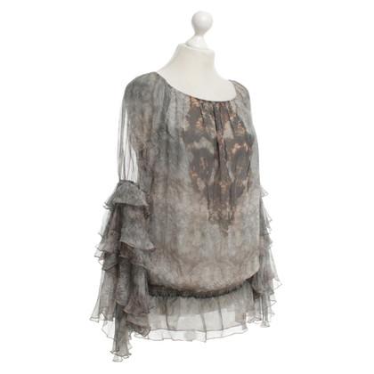 Patrizia Pepe camicetta di seta di colore grigio