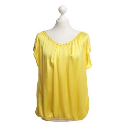Marc Cain camicia di seta gialla