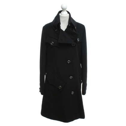 Burberry Asymmetric coat in black