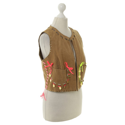 Manoush Suede leather vest