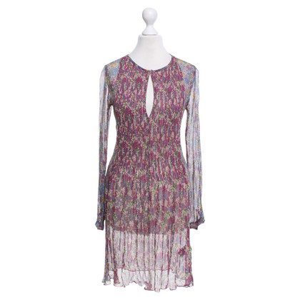 Antik Batik Silk dress with floral pattern