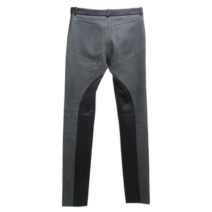 Michalsky Leather pants in black / green