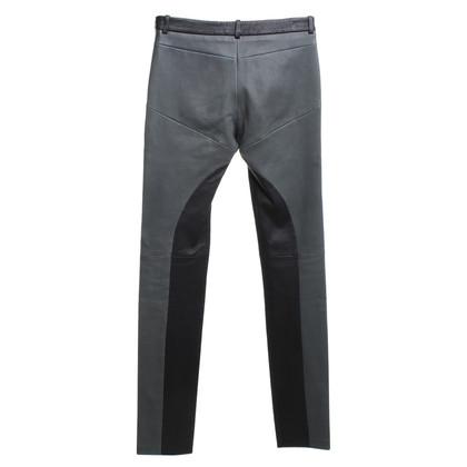 Michalsky Leren broek in zwart / Groen