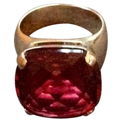 Swarovski Ring with red gem