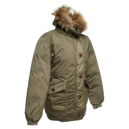 Closed Parka met bontrand