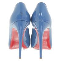 Christian Louboutin Lackleder-Pumps in Blau