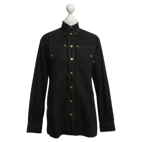 Versace Hemd in Schwarz Schwarz