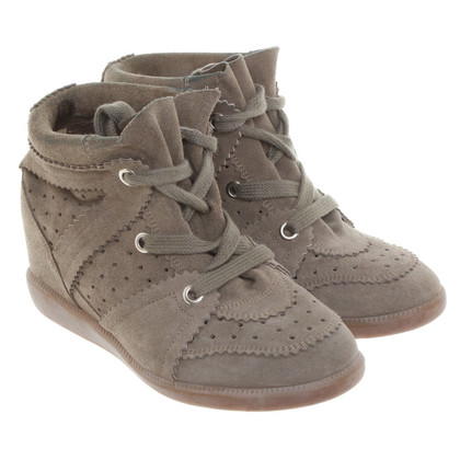 "Isabel Marant Stiefeletten ""Bobby"" in Oliv"