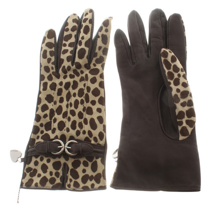 Moschino Gloves with animal pattern