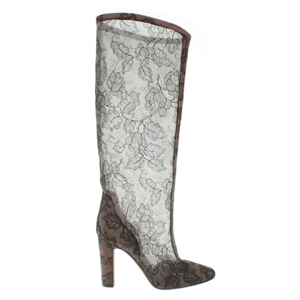 Valentino Boots with lace trim