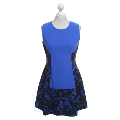 Pinko Jurk in Royal Blue / zwart