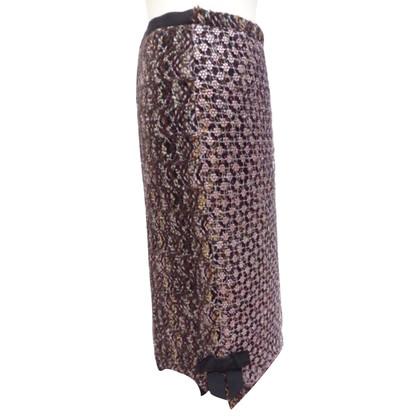 Louis Vuitton gonna di tweed con dettagli