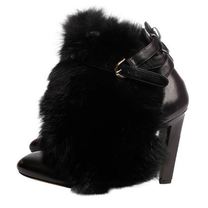 Brian Atwood Enkel laarzen met Fox bont trim