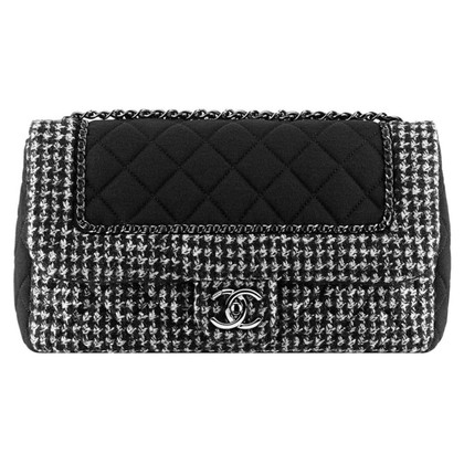 "Chanel ""Classic Flap Bag Medium"" from Tweed / Jersey"