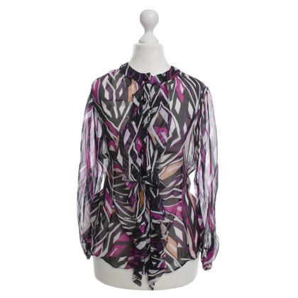 Diane von Furstenberg Grafische print zijden blouse