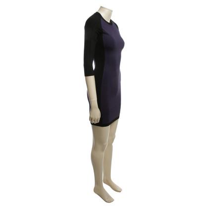 Karen Millen Knit dress in black / violet