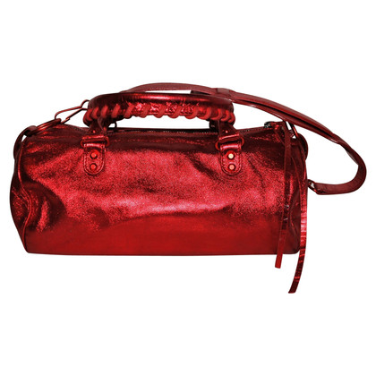 Balenciaga Metallic Red Classic Mini Twiggy