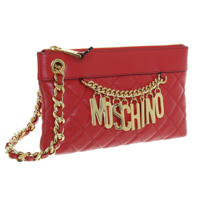Moschino clutch rood leder