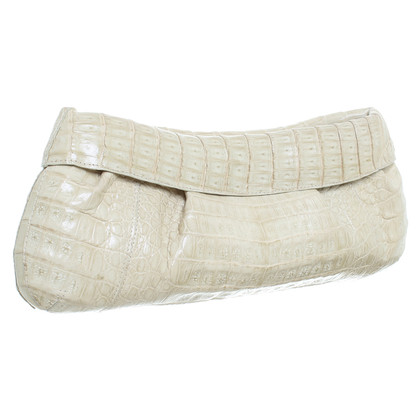 Nancy Gonzalez clutch reptile leather