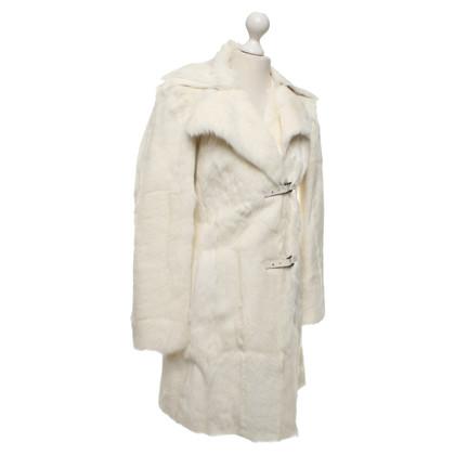 Marc Cain Geitenleer jas in het wit