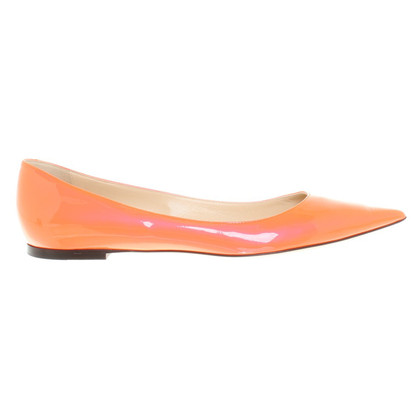Jimmy Choo Ballerine in Neonorange
