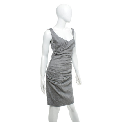 Talbot Runhof Robe en gris chiné