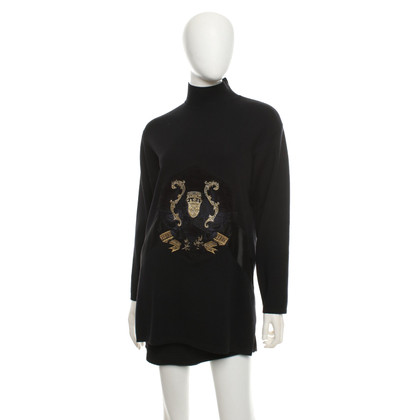 Ferre top with gold embroidery