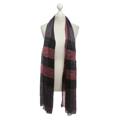 Burberry Sciarpa di seta Plaid