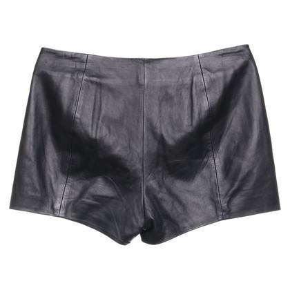 Alexander Wang Pantaloncini in pelle neri
