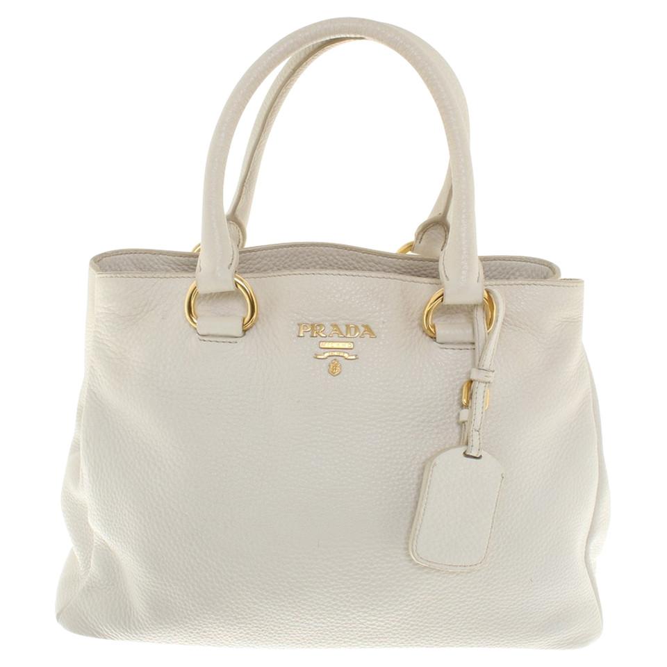 Prada Cream colored leather handbag