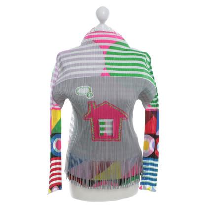 Issey Miyake Shirt mit Plisseefalten