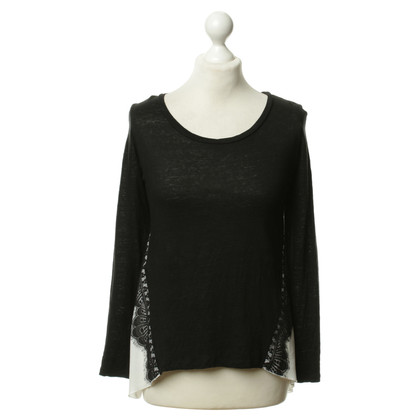 Sandro Sweater with lace trim